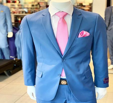 Men's Two Button  Jacket In Blue
