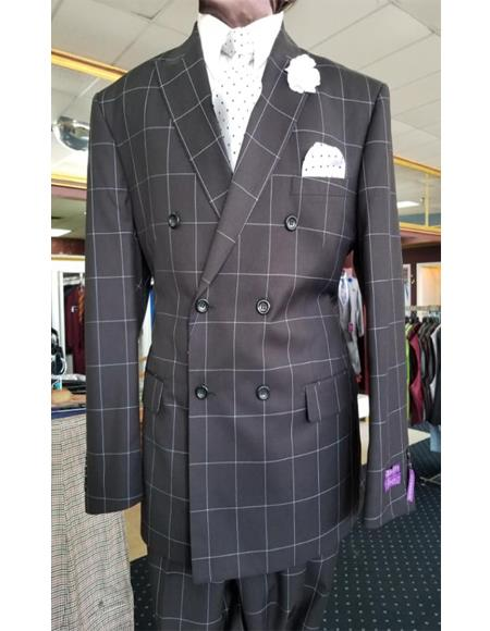 Men's Two Button Peak Lapel Jacket