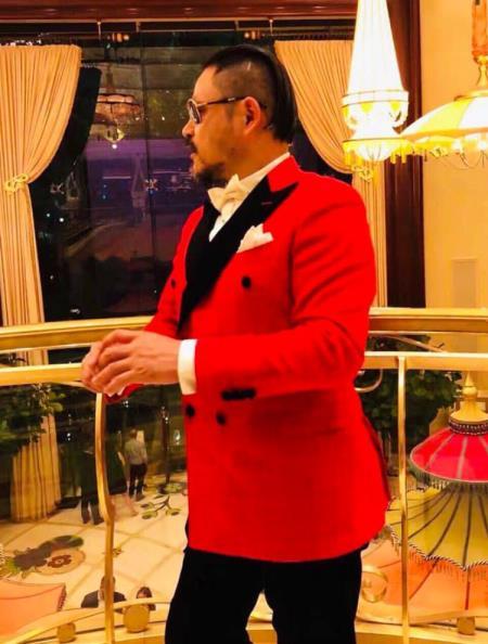 Red Tuxedo - Double Breasted Tuxedo $149