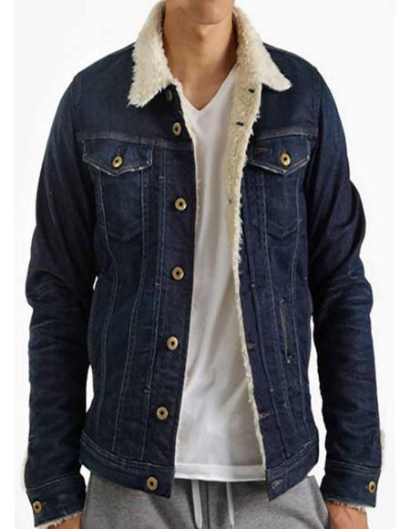 Friday The 13th Blue Denim Jacket With Fur