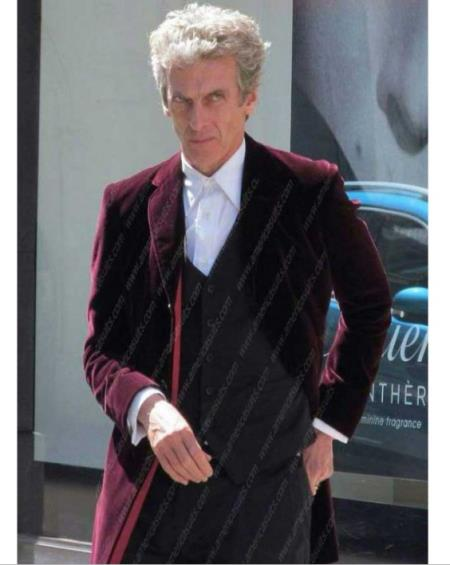 12 Doctor Who Maroon To Wool Coat