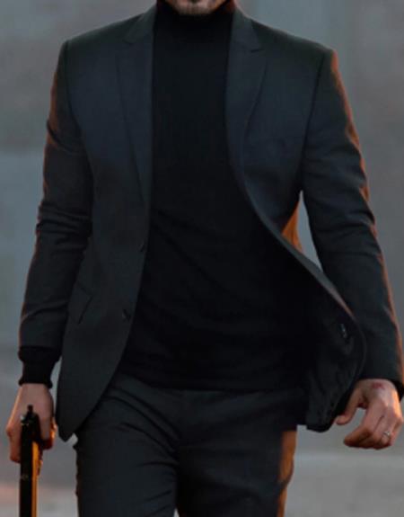 Mens John Wick Charcoal Suit Costume