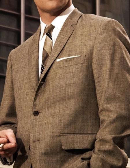 Mens Don Draper Light Grey Suit Costume