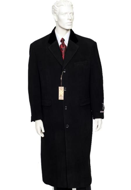 Chesterfield Wool & Cashmere Full Length Black