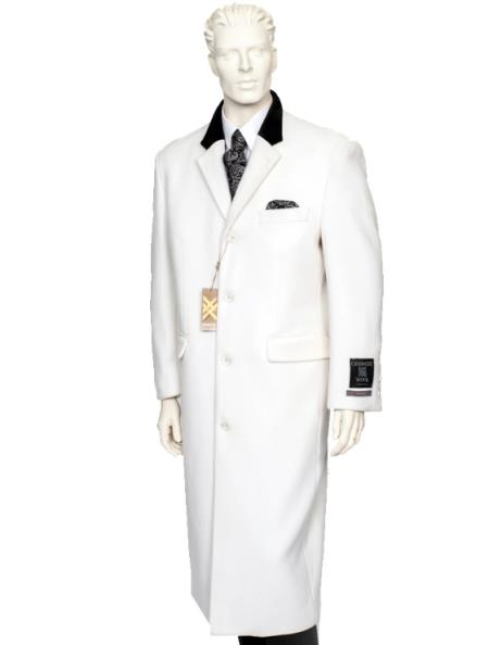 Chesterfield Wool & Cashmere Full Length White