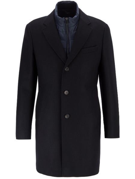 Men's  Standard Length Coat Dark Blue