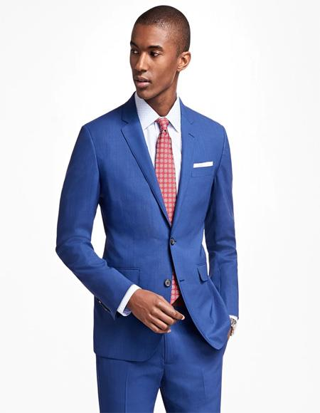 Milano Mens two buttons Slim fit Suit In Blue