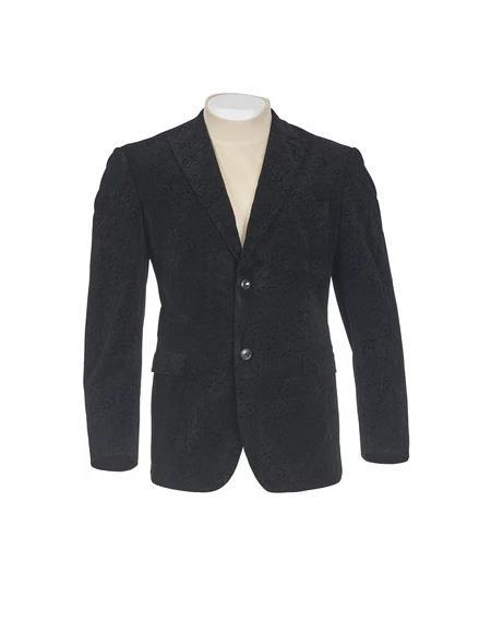 Men's Two Button Peak lapel Fully lined Black Regular fit Blazer