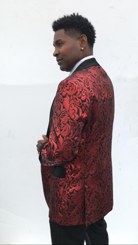 Men's Blazer + Red
