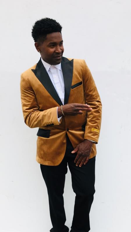 Men's Blazers Rust ~ Copper Light Brown