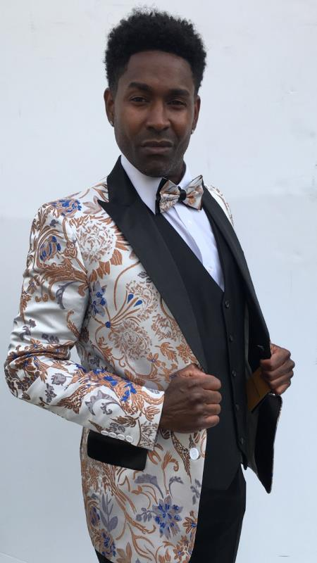 Men's Wedding / Prom Slim Fit Blazer Silver
