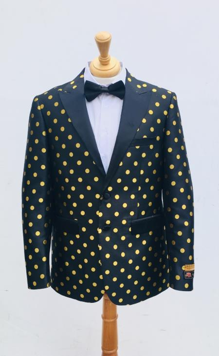 Mens Blazer Black ~ Yellow