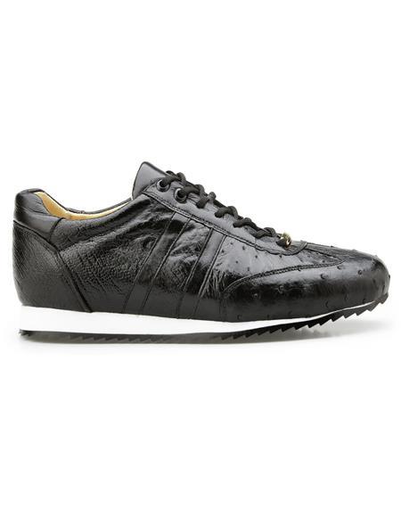 Authentic Genuine Skin Italian Dress Sneaker in Black