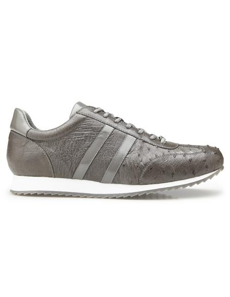 Authentic Genuine Skin Italian Dress Sneaker in Gray