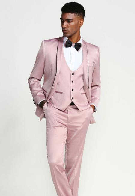 Rose Gold Single Breasted Notch Lapel Suits / Tuxedo for Men