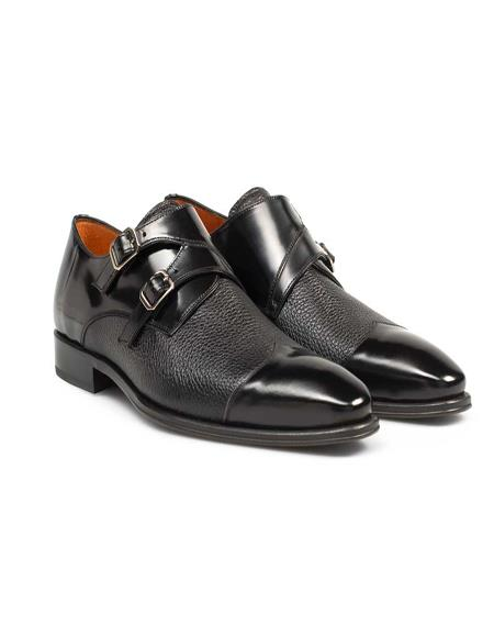 Mezlan Brand Mezlan Mens Dress Shoes Sale Mens double monk strap shoes y MeCOLUMBUS Bzlan In Black- Mens Buckle Dress Shoes