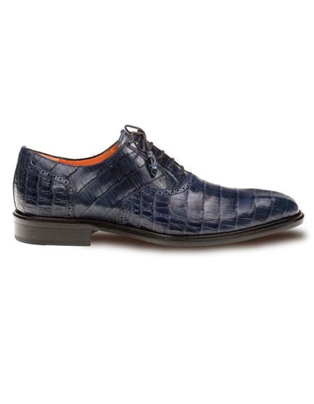 Mezlan Brand Mezlan Mens Dress Shoes Sale LUPO By Mezlan In Blue