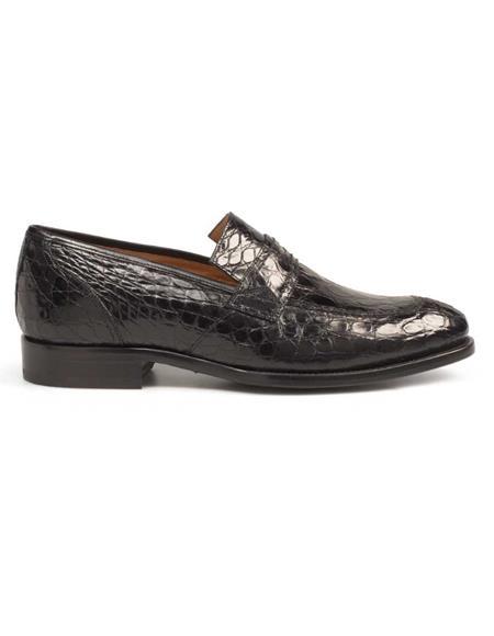 Mezlan Brand Mezlan Men's Dress Shoes Sale Authentic Mezlan Loafer - Mezlan Loafer - Mezlan Slip On MILOS By Mezlan In Black