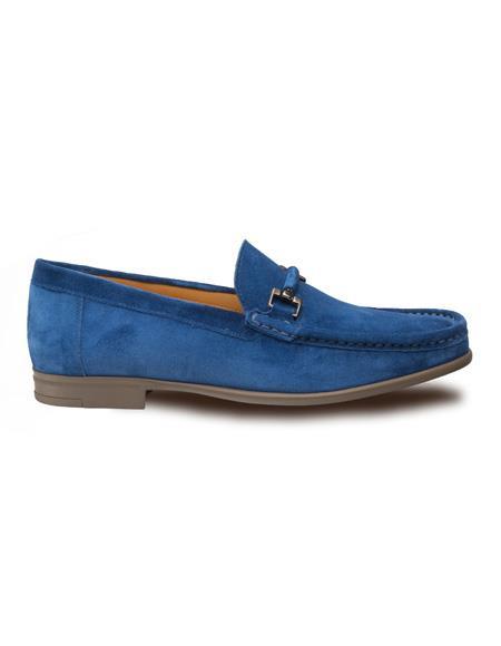 Mezlan Brand Mezlan Men's Dress Shoes Sale Authentic Mezlan Loafer - Mezlan Loafer - Mezlan Slip On Classic Venetian Moccasin Mezlan Men's Shoes In Blue