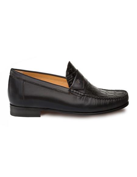 Mezlan Brand Mezlan Men's Dress Shoes Sale Authentic Mezlan Loafer - Mezlan Loafer - Mezlan Slip On SICA By Mezlan In Black