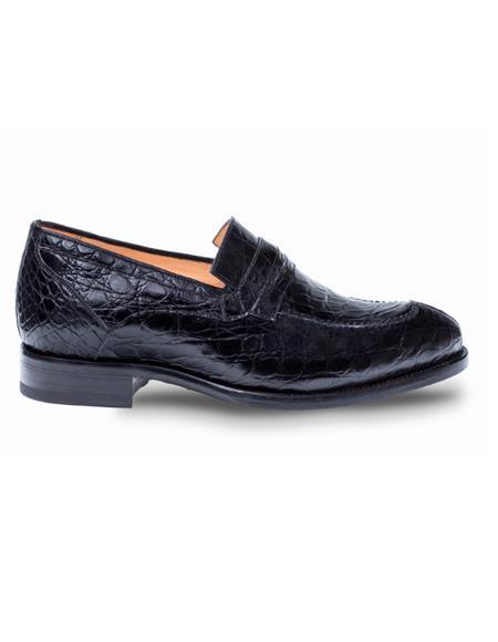 Mezlan Brand Mezlan Men's Dress Shoes Sale Authentic Mezlan Loafer - Mezlan Loafer - Mezlan Slip On BIXBY By Mezlan In Black