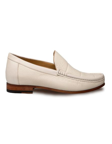 Mezlan Brand Mezlan Men's Dress Shoes Sale Authentic Mezlan Loafer - Mezlan Loafer - Mezlan Slip On IMANOL By Mezlan In Bone