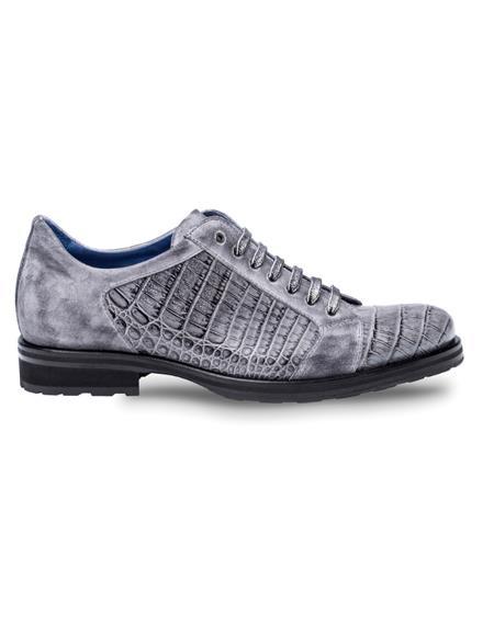 Mezlan Brand Mezlan Men's Dress Shoes Sale OLSEN By Mezlan In Grey