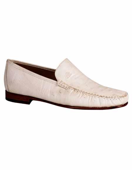 Mezlan Brand Mezlan Mens Dress Shoes Sale Authentic Mezlan Loafer - Mezlan Loafer - Mezlan Slip On HARLEY By Mezlan In White