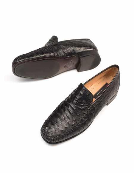 Mezlan Brand Mezlan Mens Dress Shoes Sale Authentic Mezlan Loafer - Mezlan Loafer - Mezlan Slip On HARLEY By Mezlan In Black
