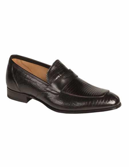 Mezlan Brand Mezlan Mens Dress Shoes Sale Authentic Mezlan Loafer - Mezlan Loafer - Mezlan Slip On LIPARI By Mezlan In Black