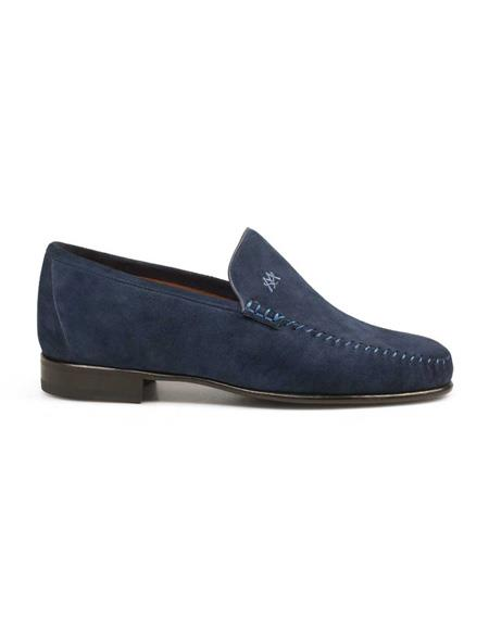 Mezlan Brand Mezlan Men's Dress Shoes Sale Authentic Mezlan Loafer - Mezlan Loafer - Mezlan Slip On SAGRADA By Mezlan In Royal