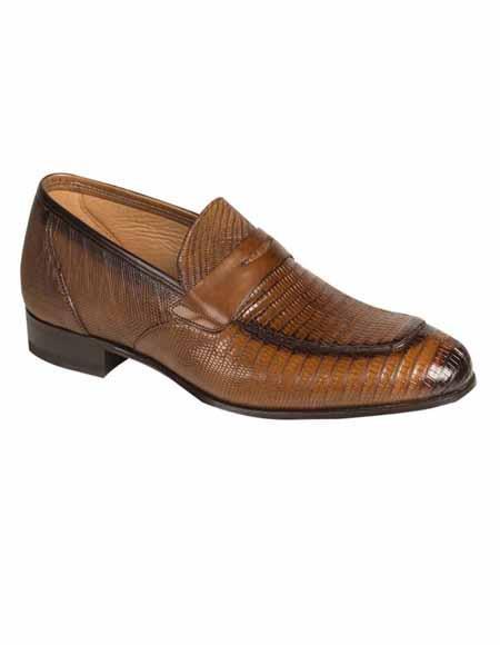 Mezlan Brand Mezlan Men's Dress Shoes Sale Authentic Mezlan Loafer - Mezlan Loafer - Mezlan Slip On LIPARI By Mezlan In Cognac