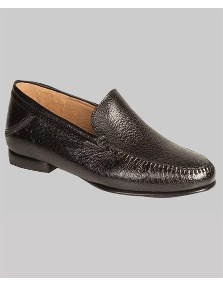 Mezlan Brand Mezlan Men's Dress Shoes Sale Authentic Mezlan Loafer Mezlan Loafer - Mezlan Slip On GEROME By Mezlan In Black