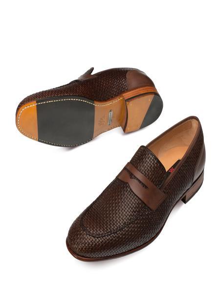 Mezlan Brand Mezlan Men's Dress Shoes Sale Authentic Mezlan Loafer Mezlan Loafer - Mezlan Slip On FARO By Mezlan In Brown