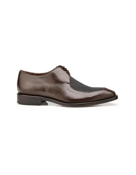 Brown Genuine Stingray and Italian Calf Dress Shoes