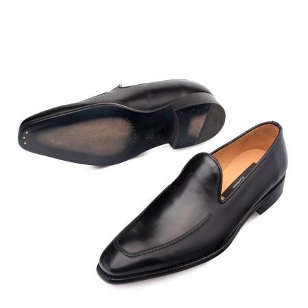 Mezlan Brand Mezlan Men's Dress Shoes Sale Authentic Mezlan Loafer Mezlan Loafer - Mezlan Slip On CURTANA By Mezlan In Black