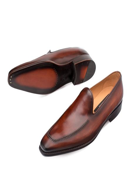 Mezlan Brand Mezlan Men's Dress Shoes Sale Authentic Mezlan Loafer Mezlan Loafer - Mezlan Slip On CURTANA By Mezlan In Cognac