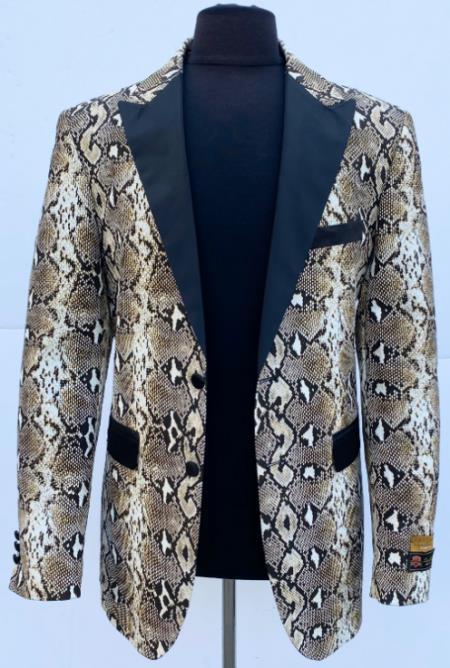 Sport Jacket Blazer Alligator  Snakeskin Coat Snake Skin