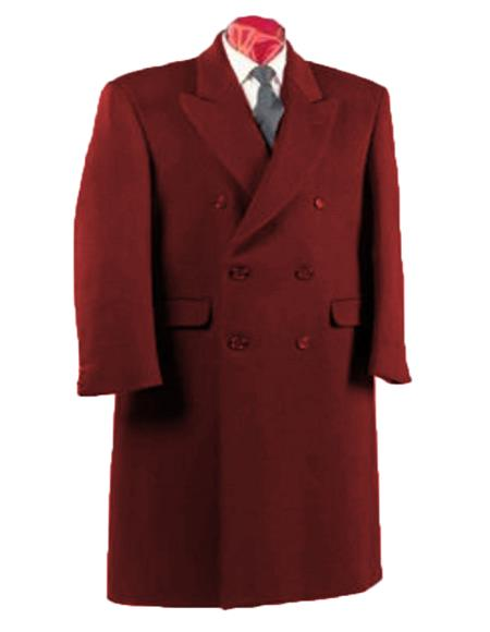 Alberto Nardoni Authentic Fully Lined Double Breasted Men's Dress Coat Wool Blend Long Overcoat