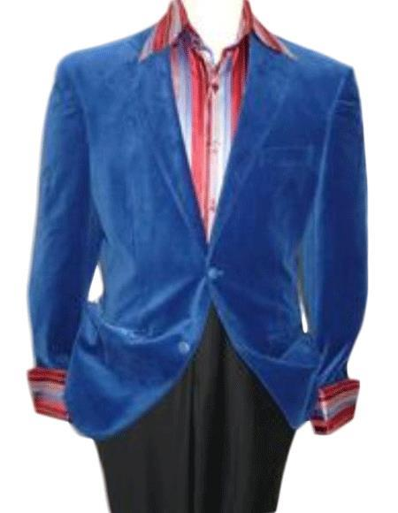 Velour Mens blazer Jacket  Royal Blue Velvet Cheap Priced Unique Fashion Designer Mens Dress Sale Jacket