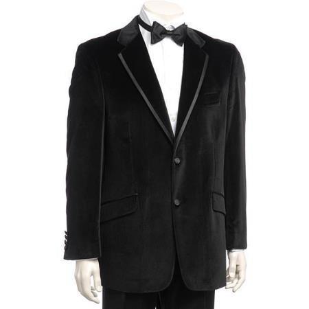 Velour Mens blazer Jacket  Black Mens Velvet Dinner Jacket Trim Lapel Tuxedo looking