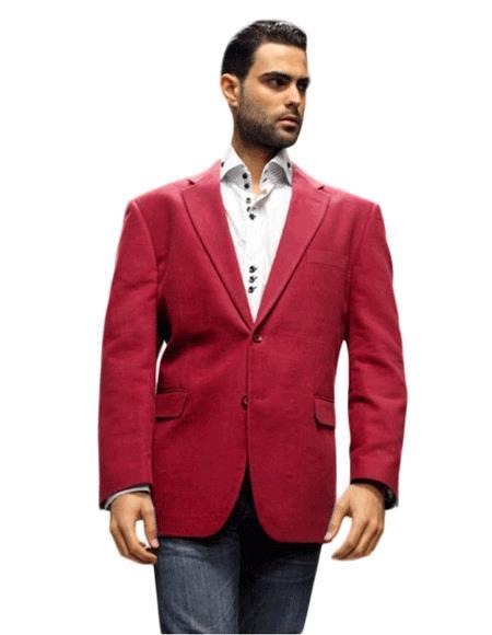 Velour Men's blazer Jacket Sport Coat It's One of a Kind Super 150's For All Occasion Winish Burgundy ~ Maroon