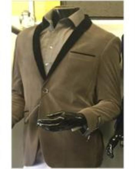 Men's Shawl Lapel Velvet Blazer Available In Gray ~ Grey Tuxedo / velour Men's blazer Jacket Men's / Tux /