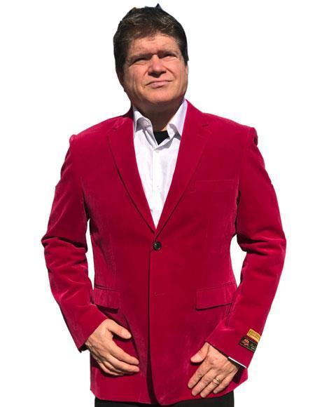 Hot Pink ~ Fuchsia Tuxedo velour Men's blazer Jacket