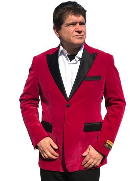 Men's Hot Pink ~ Fuchsia velour Men's blazer Jacket ~ Sport coat