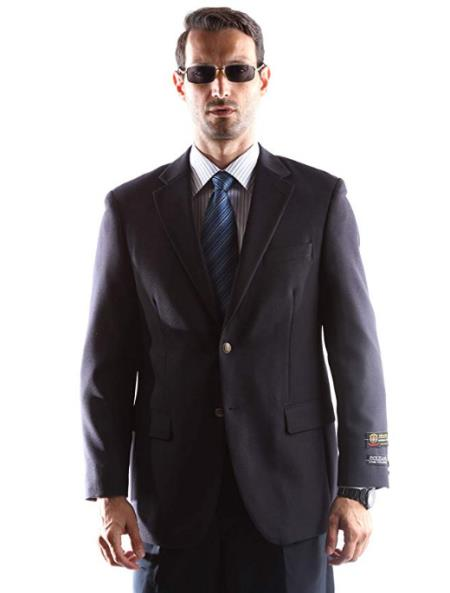 Big and Tall & Extra Long Sizes Men's Blazer With Brass Buttons