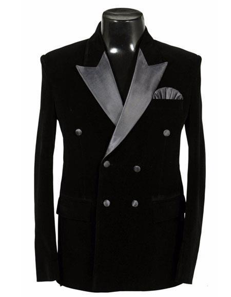 Black Jacket Tuxedo Sport Coat velour Men's blazer