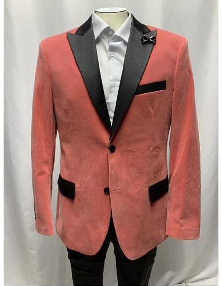 Men's Cheap Priced Designer Fashion Dress Casual Men's blazer On Sale Slim Fit Dusty Pink velour Blazer Jacket