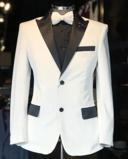 Velvet Tuxedo Dinner Jacket velour Men's blazer Jacket + White