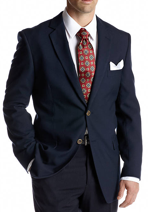 Portly Navy Blazer Executive Fit Suit - Mens Portly Suit